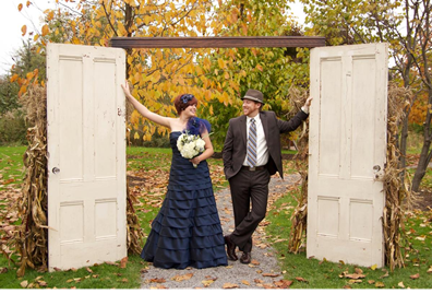 Wedding Entrance using salvaged doors